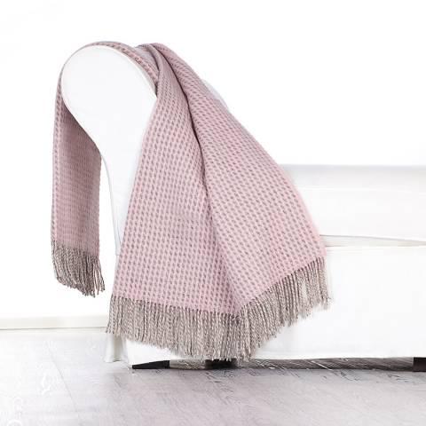Lanerossi Svezia Wool Throw 130x180cm, Powder Pink