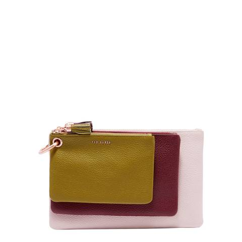 Ted Baker Multi Colour Block Triple Pouch