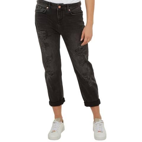 Ted Baker Black Wash Hettey Boyfriend Stretch Jeans