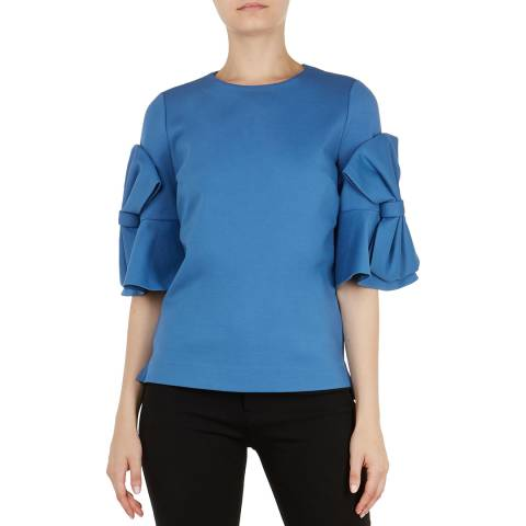 Ted Baker Mid Blue Soaf Bow Top