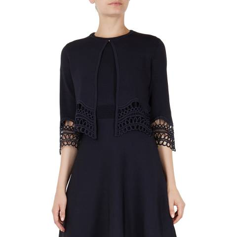 Ted Baker Navy Rajeen Lace Cardigan