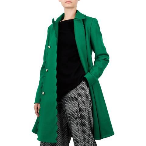 Ted Baker Green Blarnch Wool Blend Coat