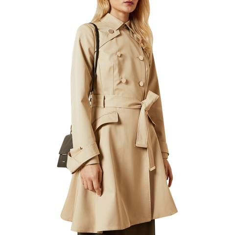 Ted Baker Natural Luciey Belted Mac