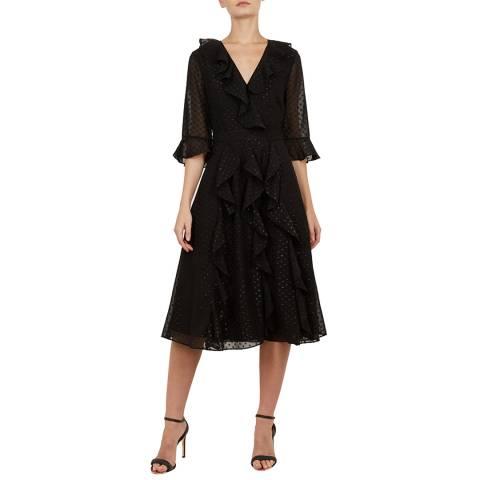 Ted Baker Black Ardeel Ruffle Dress