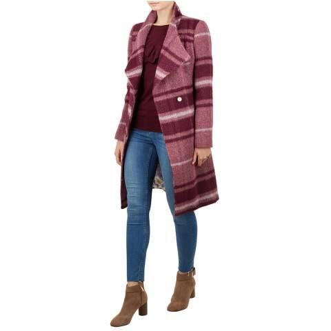 Ted Baker Red Skaalet Long Wrap Coat