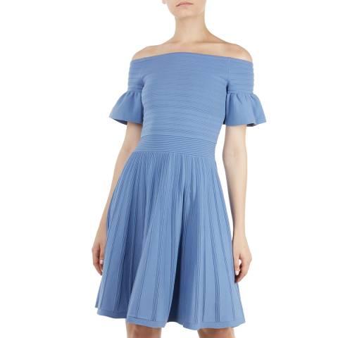 Ted Baker Light Blue Criptum Knit Dress