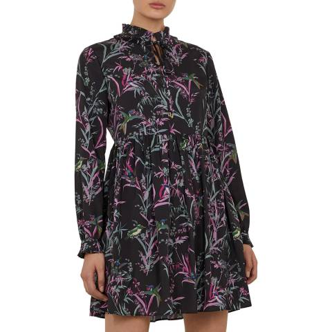 Ted Baker Black/Multi Duclin Shirt Dress