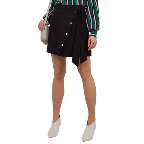 Ted Baker Navy Florda Button Mini Skirt