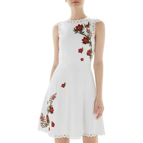 Ted Baker White Kristil Skater Dress