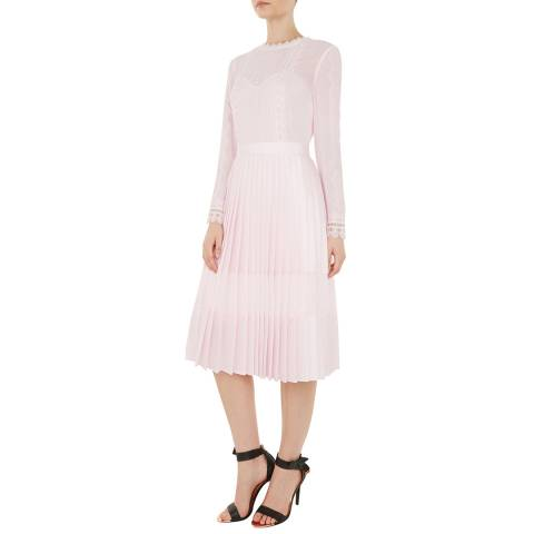Ted Baker Nude Looez Midi Dress