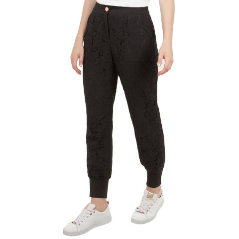 Ted Baker Black Cylar Lace Joggers