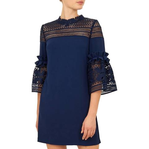 Ted Baker Navy Lucila Lace Dress