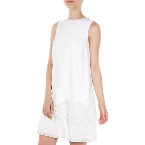 Ted Baker White Nadeen Lace Hem Dress