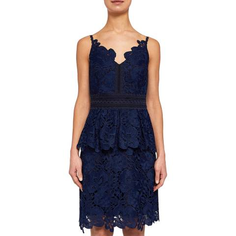 Ted Baker Navy Nadiie Lace Dress