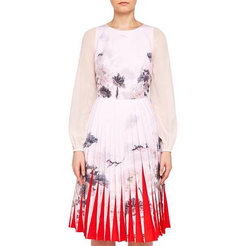 Ted Baker Pink/Multi Pritcha Pleated Dress