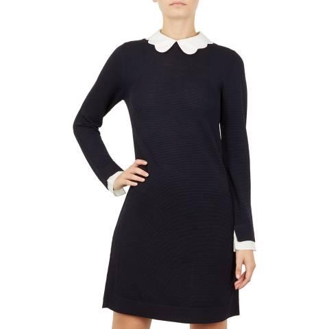 Ted Baker Navy Rosalo Knit Dress