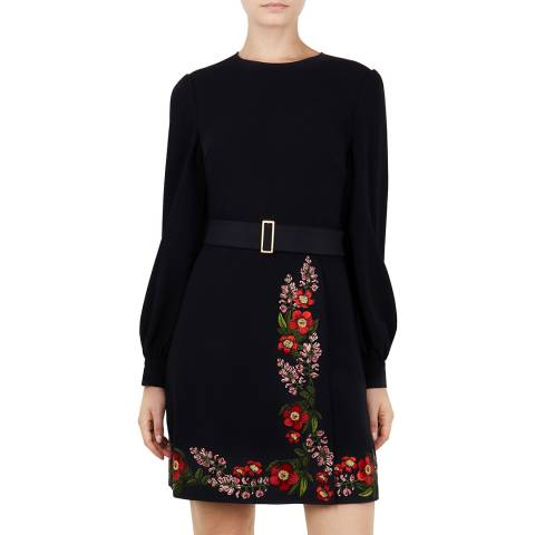Ted Baker Midnight Siliia Embroidered Dress
