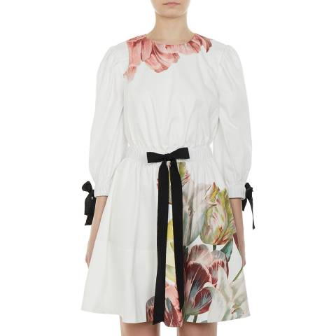 Ted Baker White/Multi Tuleela Cotton Dress