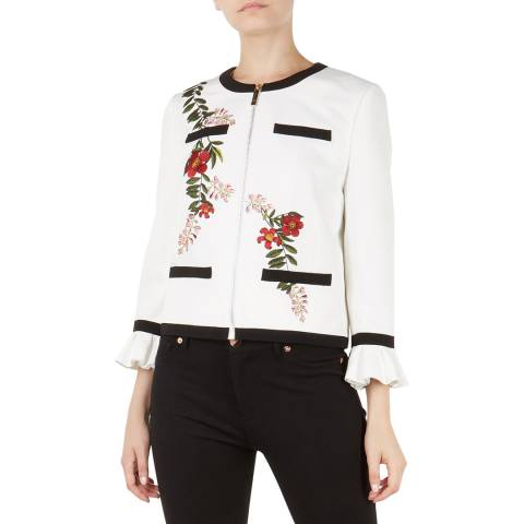 Ted Baker Ivory Aimmii Embroidered Jacket