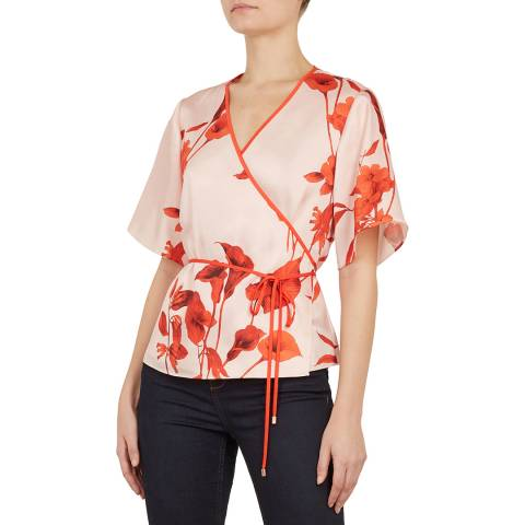 Ted Baker Pink/Orange Melonyy Wrap Top