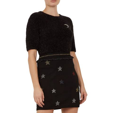 Ted Baker Black Aalana Fluffy Knit Top