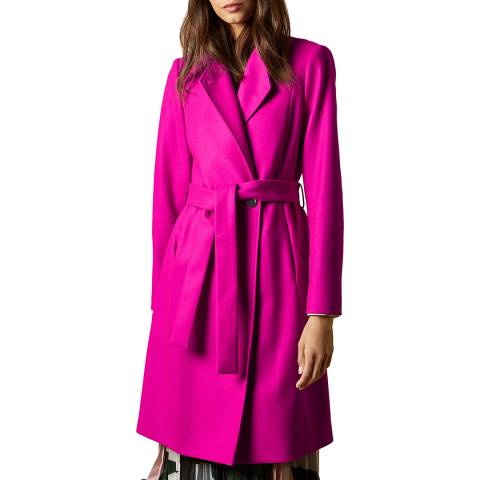 Ted Baker Bright Pink Skyyler Wrap Coat
