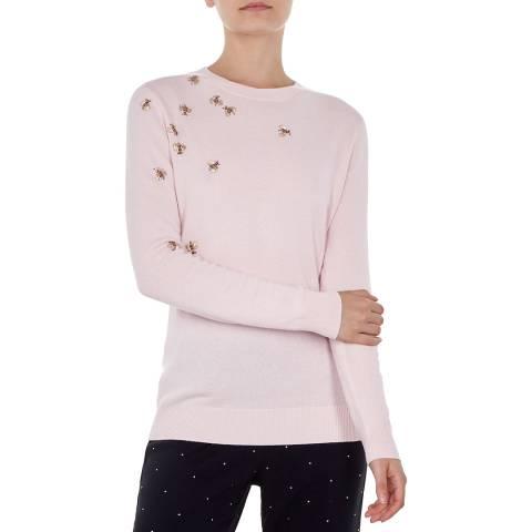 Ted Baker Pink Calliee Wool Blend Jumper