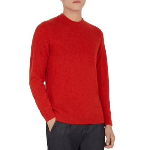 Ted Baker Orange Jaicash Luxe Wool Jumper
