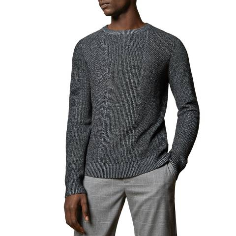 Ted Baker Charcoal Mixme Crew Neck Jumper