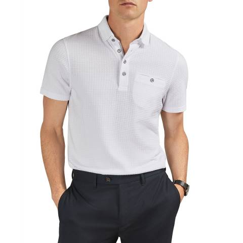 Ted Baker White Hughes Textured Polo Shirt