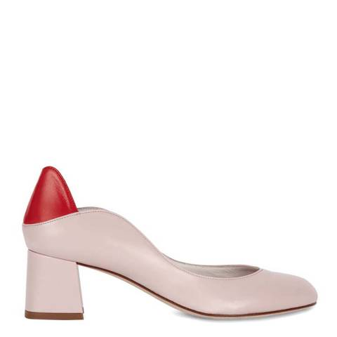Lulu Guinness Nude Rose & Red 2nd Glance Lips Alexandra Heels