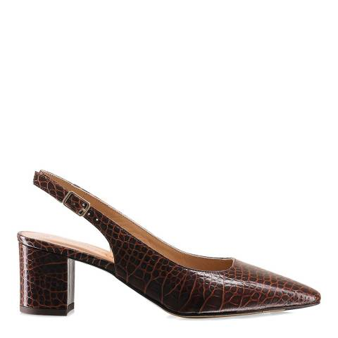 Russell & Bromley Brown Impulse Slingback Court Shoes