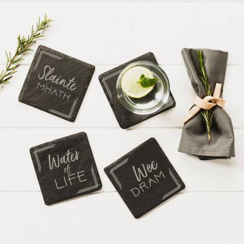 Just Slate Set of 4 Whisky Coasters
