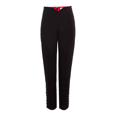 Lulu Guinness Black Toni Stretch Trousers