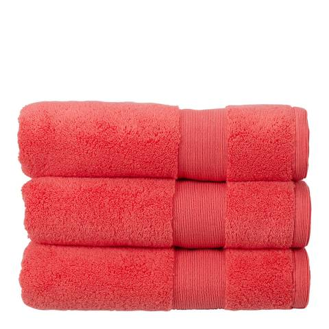 Kingsley Carnival Pack of 6 Face Cloths, Coral