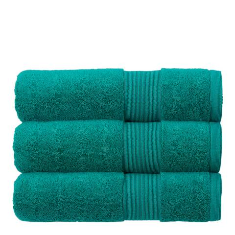 Kingsley Carnival Pack of 6 Face Cloths, Emerald