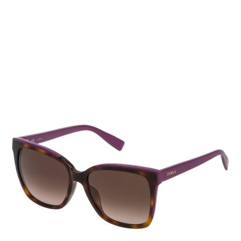 Furla Dark Tortoiseshell Square Sunglasses