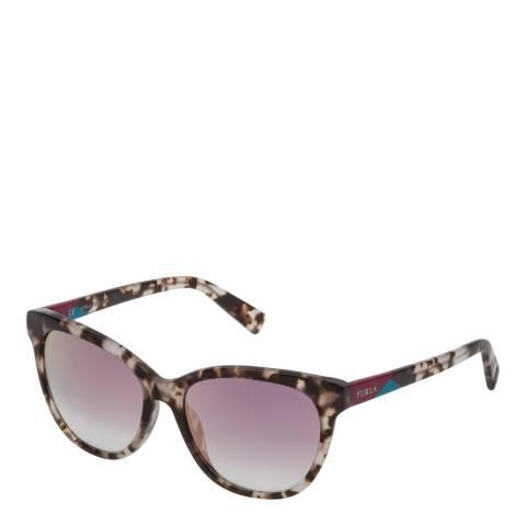 Furla White Tortoiseshell Round Sunglasses