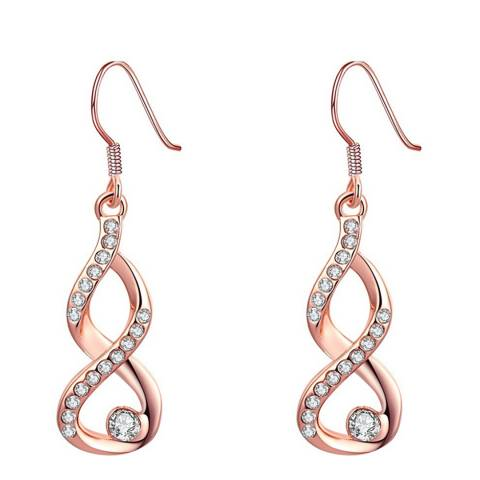 Ma Petite Amie Rose Gold Plated Twist Earrings