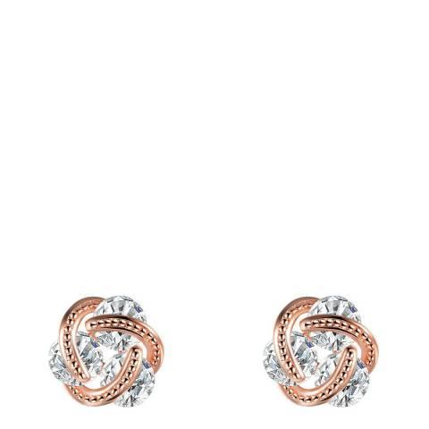 Ma Petite Amie Rose Gold Crystal Earrings