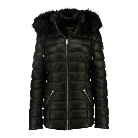Geographical Norway Black Bouchon Parka Jacket