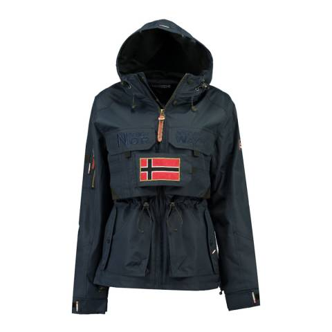 Geographical Norway Navy Butcheta Hooded Jacket