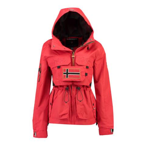 Geographical Norway Red Butcheta Hooded Jacket