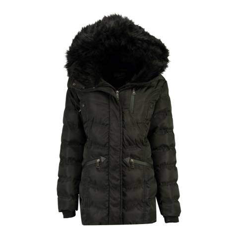 Geographical Norway Black Doctor Parka Jacket
