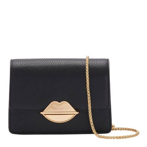 Lulu Guinness Black Lip Push Lock Polly Bag