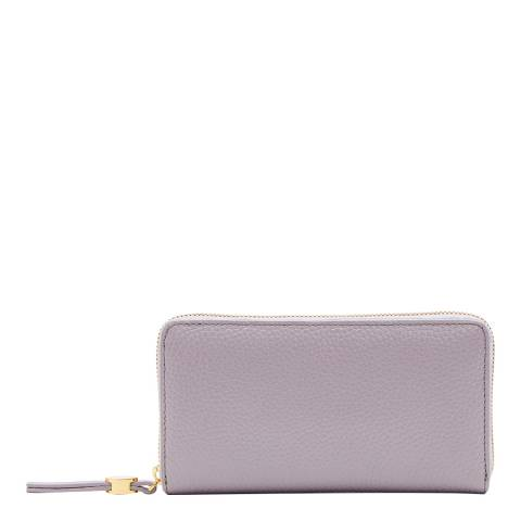 Lulu Guinness Lavender Grey Continental Wallet