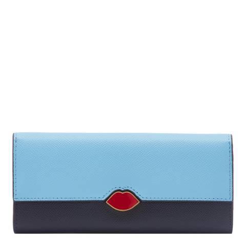 Lulu Guinness Sky Lip Cut Out Cora Wallet