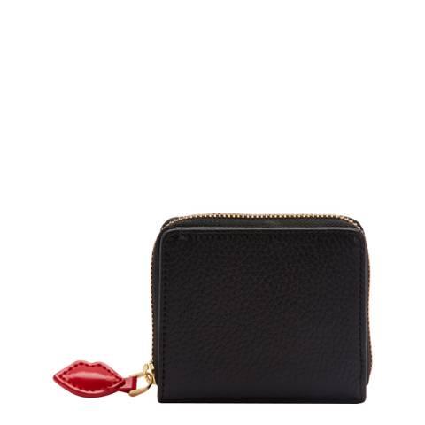 Lulu Guinness Black Heart Portia Wallet
