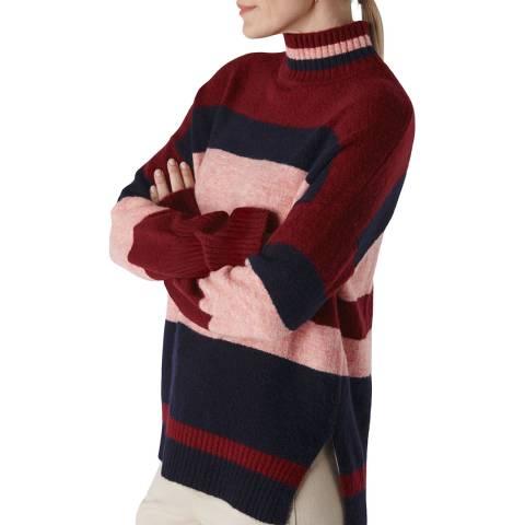 WHISTLES Multi Stripe Roll Neck Jumper