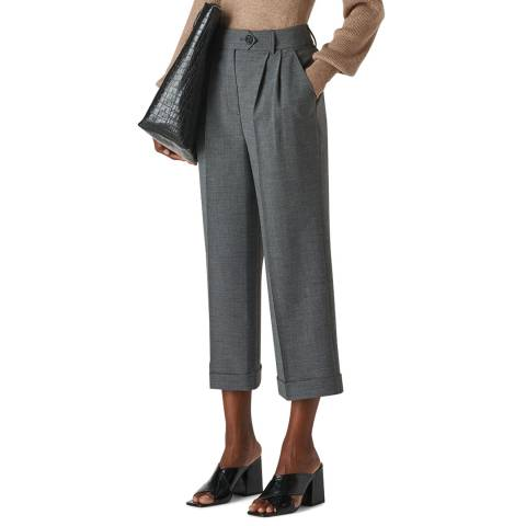 WHISTLES Multi Turn Up Crop Trousers
